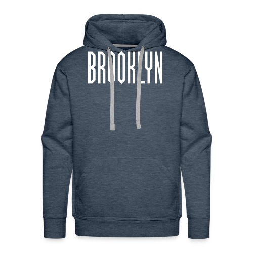BROOKLYN Word White - Sweat-shirt à capuche Premium pour hommes