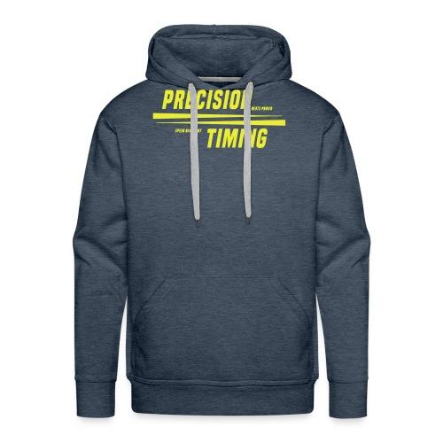 PRECISION & TIMING - Herre Premium hættetrøje