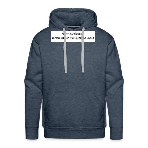 firma kurierska tyl - Bluza męska Premium z kapturem