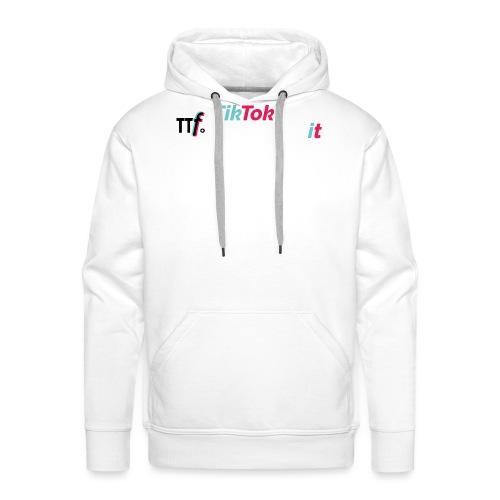 ttfollowers logo - Felpa con cappuccio premium da uomo