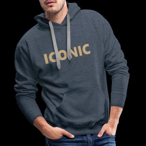 ICONIC [Cyber Glam Collection ] - Sweat-shirt à capuche Premium pour hommes