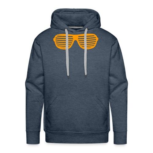 lunette Orange - Sweat-shirt à capuche Premium pour hommes