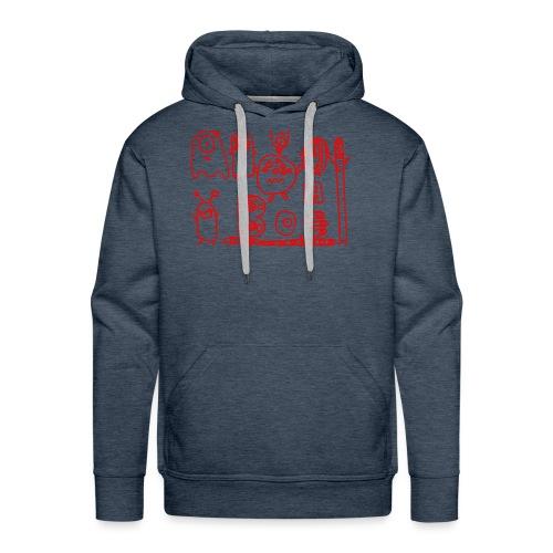 monsters-rood - Mannen Premium hoodie