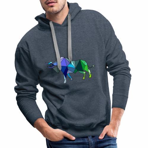 Toro Color - Sudadera con capucha premium para hombre