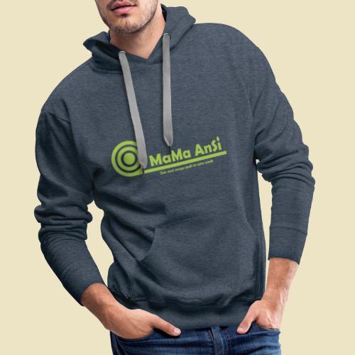 MaMa AnSi G logo - Herre Premium hættetrøje