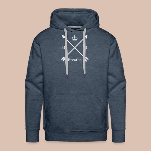 Breathe (Arrow Design) - Men's Premium Hoodie