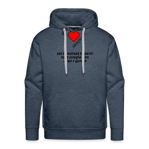 Collection St Valentin - Sweat-shirt à capuche Premium pour hommes