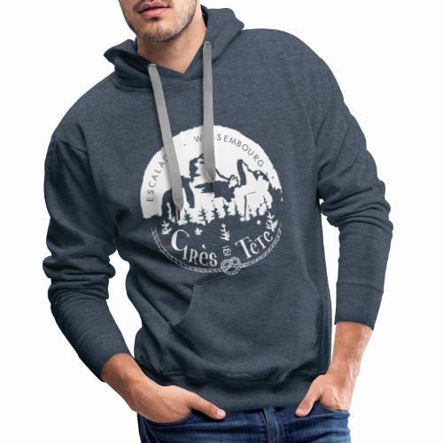 Rocher - Sweat-shirt à capuche Premium pour hommes
