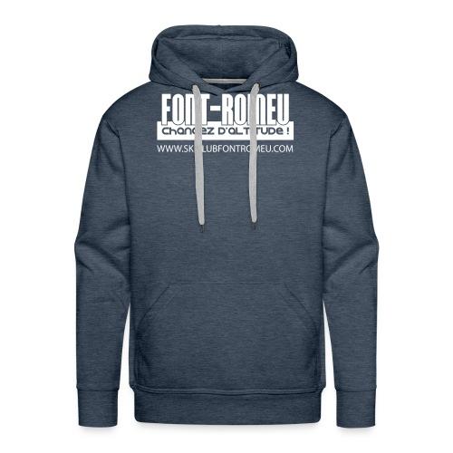 font romeu logo seul vecto blanc copie - Sweat-shirt à capuche Premium pour hommes