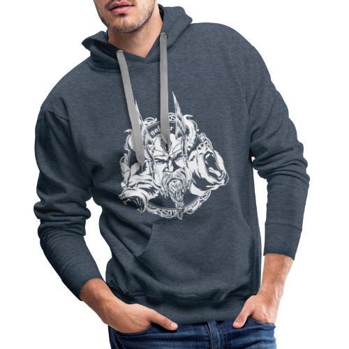 Wikinger, Viking Logo White, galdur - Männer Premium Hoodie
