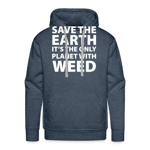 weed - sauve la terre - Sweat-shirt à capuche Premium pour hommes