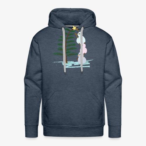 3bonhommesdeneige - Sweat-shirt à capuche Premium pour hommes