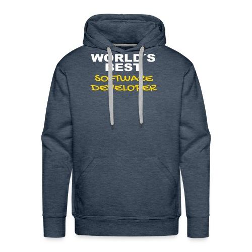 Worldsbest Software Developer Hell - Männer Premium Hoodie