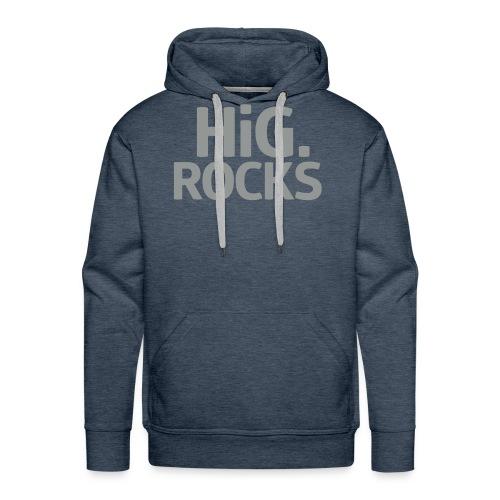 hig rocks Schriftzug - Männer Premium Hoodie