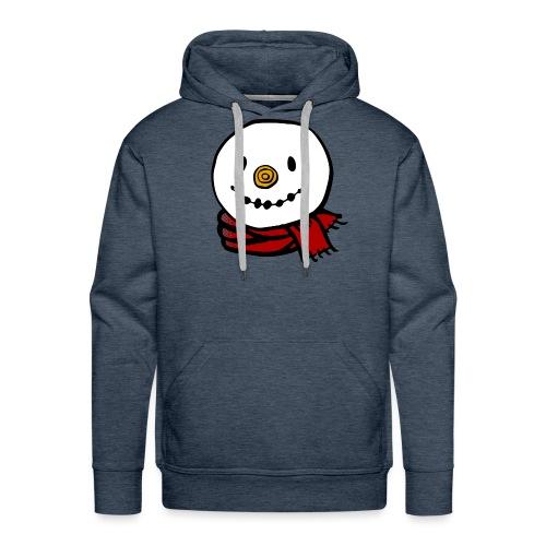 Fröhlicher Schneemann mit rotem Schal Weihnachten - Männer Premium Hoodie