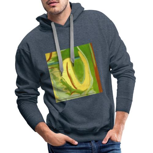 Abstract Green Gold Red - Men's Premium Hoodie