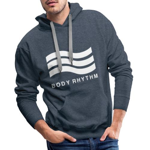 Body Rhythm Official Logo White - Men's Premium Hoodie
