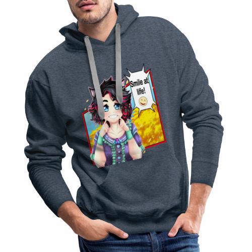 Comic Neko girl - Sudadera con capucha premium para hombre