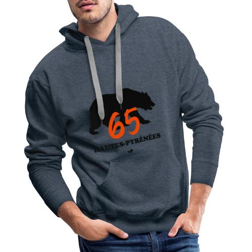 OURS des HAUTES-PYRÉNÉES - Sweat-shirt à capuche Premium pour hommes