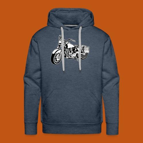 Chopper Motorrad 10_schwarz weiß - Männer Premium Hoodie