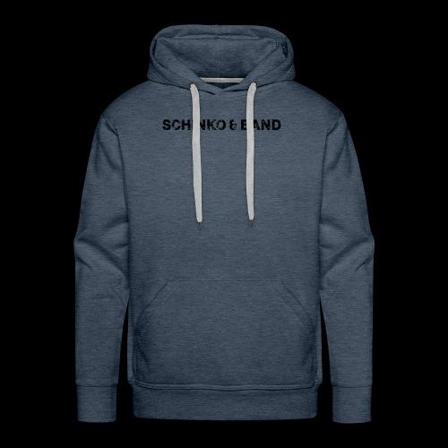 SCHINKO BAND Logo Schwarz - Männer Premium Hoodie