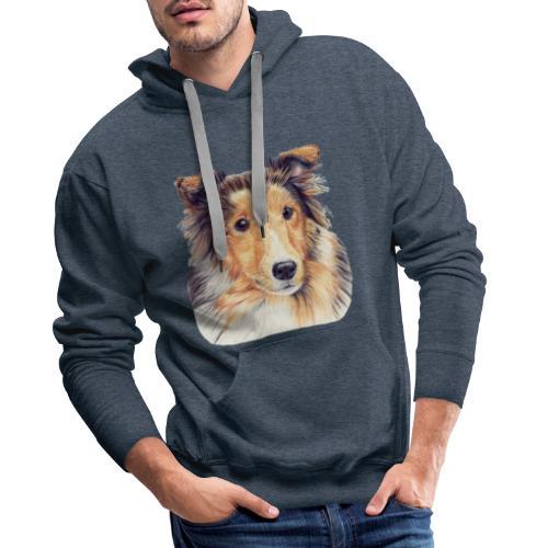 shetland Sheepdog 2 - Herre Premium hættetrøje