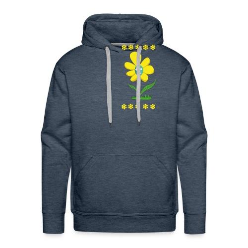 Gelbe Blume - Männer Premium Hoodie