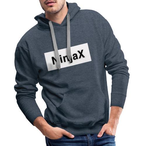 NinjaX Vit Svart - Premiumluvtröja herr