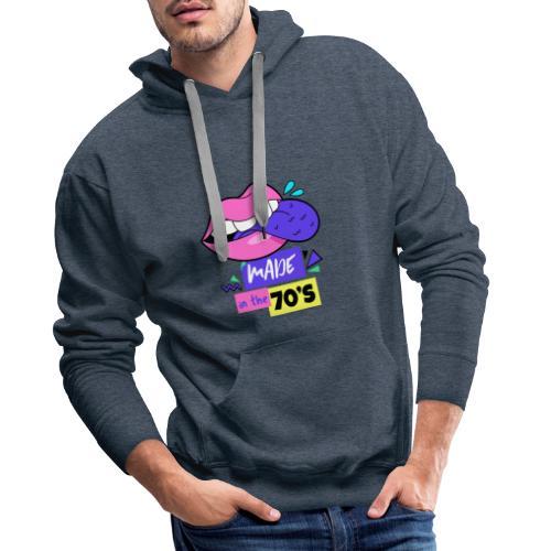 Années 70 - Sweat-shirt à capuche Premium pour hommes