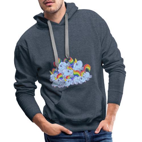 Moar unicorns! - Felpa con cappuccio premium da uomo