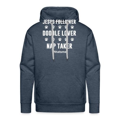Jesus follower doodle lover nap taker - Men's Premium Hoodie