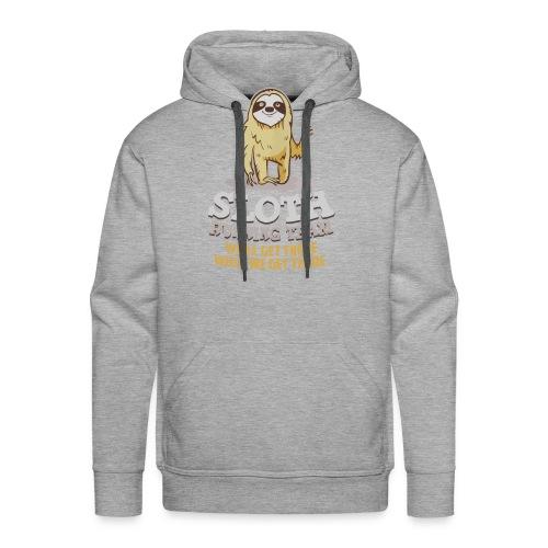 Sloth running team - Men's Premium Hoodie