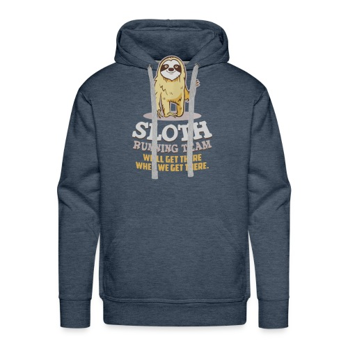 Sloth running team - Men's Premium Hoodie