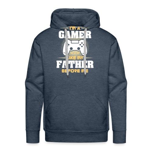 Gamer wie mein Vater Zocker Design & Geschenk - Männer Premium Hoodie