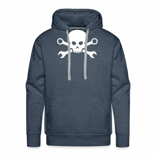 Skull'n'Tools Pirate Skull - Men's Premium Hoodie