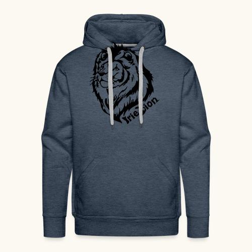 Irie Lion - Lion Rastafari - Sweat-shirt à capuche Premium pour hommes