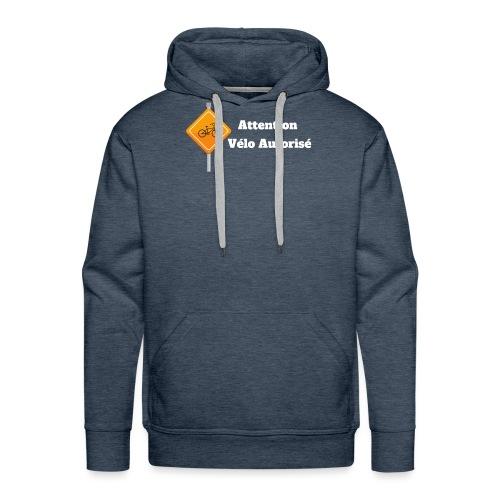 Attention, vélo autorisé 2 - Sweat-shirt à capuche Premium pour hommes