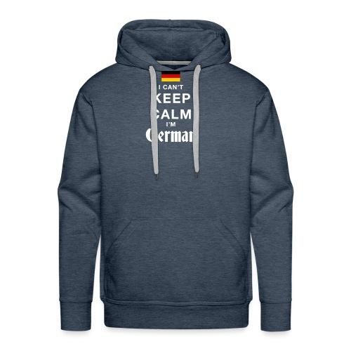 I CAN T KEEP CALM german - Männer Premium Hoodie