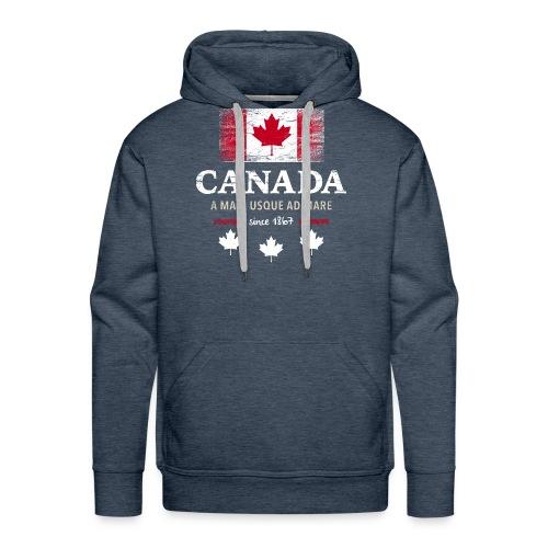 Canada Kanada Amerika maple leaf Flagge Fahne - Men's Premium Hoodie