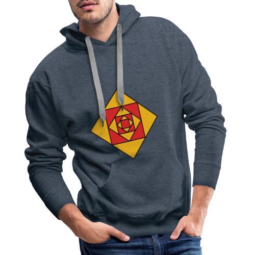 Prismes carrés - Sweat-shirt à capuche Premium pour hommes