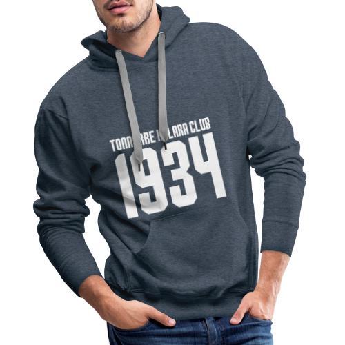 TKC 1934 sérigraphié blanc - Sweat-shirt à capuche Premium pour hommes
