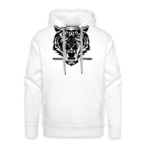 tijger-zwart - Mannen Premium hoodie
