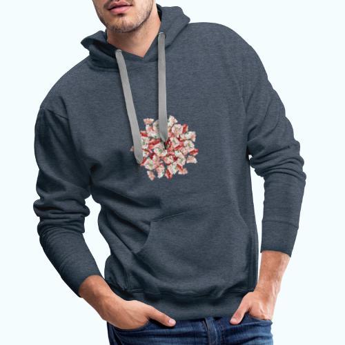 Hippie Aquarell Blumen - Men's Premium Hoodie