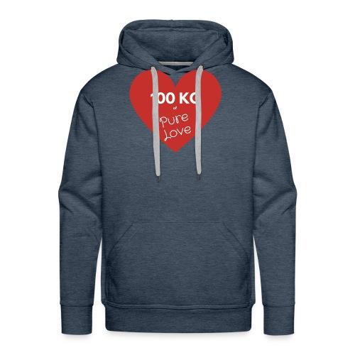 100 kg of pure love - Men's Premium Hoodie