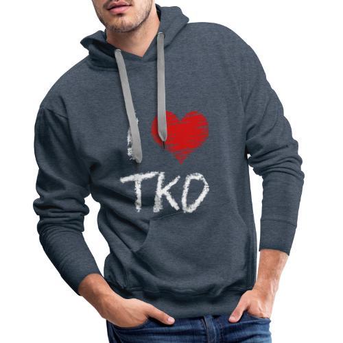 I love tkd letras blancas - Sudadera con capucha premium para hombre