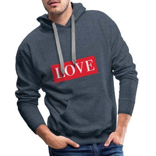 Red LOVE - Men's Premium Hoodie