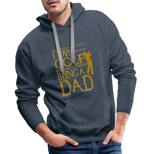 I Love Golf - Golfer Men Gift for Dad - Sudadera con capucha premium para hombre