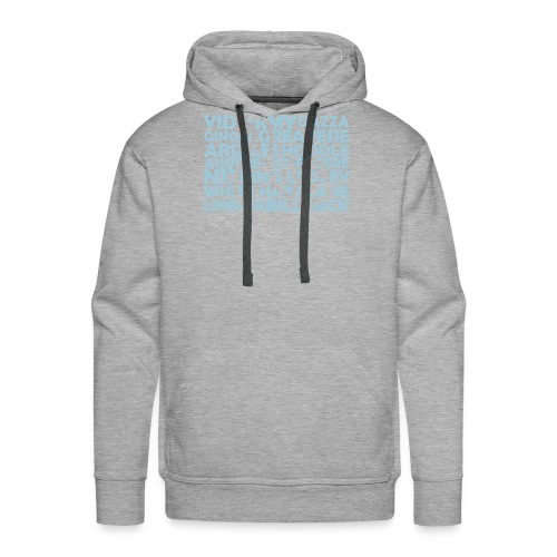 spurs cockerel text - Men's Premium Hoodie