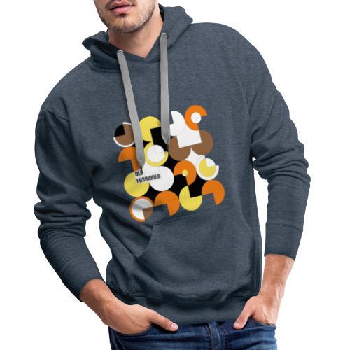 Motif style années 60 old fashioned - Sweat-shirt à capuche Premium pour hommes