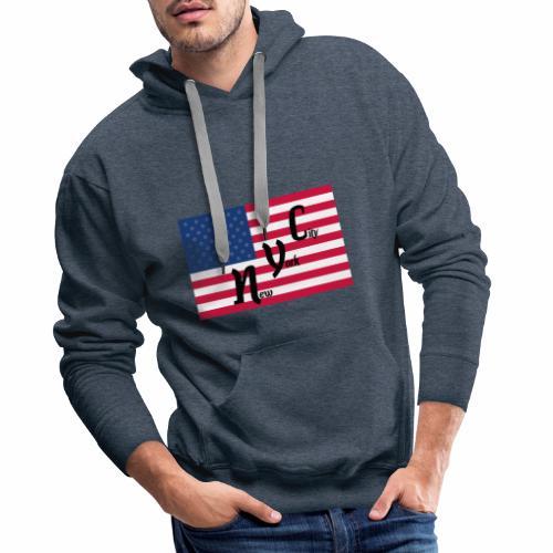America Flag NYC - Männer Premium Hoodie